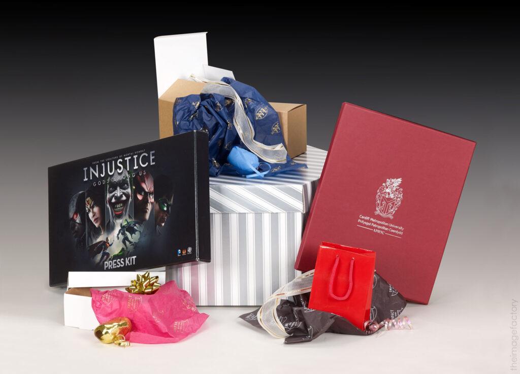 bespoke printed christmas paper - christmas ribbon